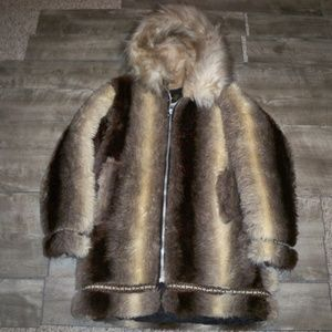 Vintage Stearns Eskimo Faux Fur Men's Parka Medium
